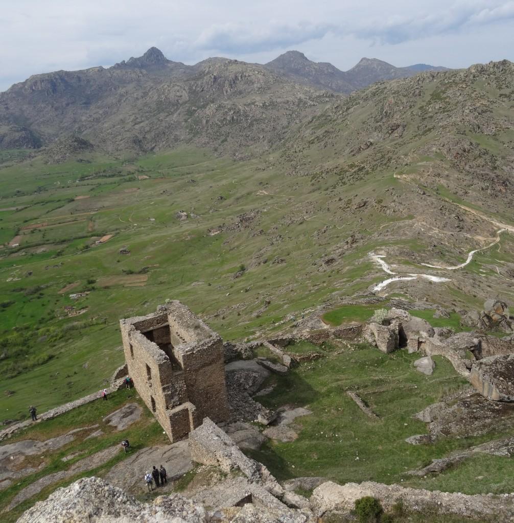 Blick vom Marcovi Kule auf Prilep, Mazedonien