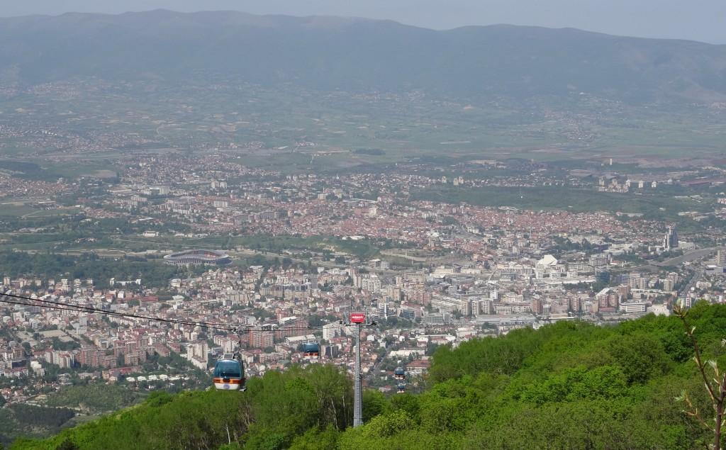 Skopje vom Vodno aus